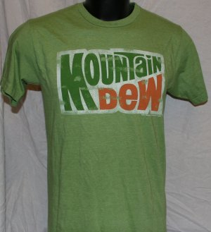 MOUNTAIN DEW Medium GREEN T Shirt Officially Licensed