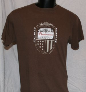 BUDWEISER King of Beers BROWN Medium T SHIRT