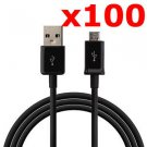 100X MICRO USB DATA CABLE CORD CHARGER CELL PHONE TABLET WHOLESALE LOT NEW