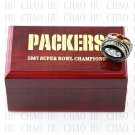 Team Logo wooden case 1967 Green bay packers Super Bowl Championship Ring 10-13 size