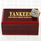 Team Logo wooden Case 2000 New York Yankees world Series Championship Ring 10-13 size solid back