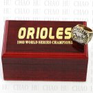Team Logo wooden Case 1983 BALTIMORE ORIOLES world Series Championship Ring 10-13 size