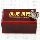 Team Logo wooden Case 1993 TORONTO BLUE JAYS world Series Championship Ring 10-13 size