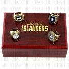 4PCS Sets 1980 1981 1982 1983 New York Islanders Hockey Championship Ring 10-13 size