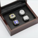 4 PCS 1986 1990 2007 2011 New York Giants NFL Super Bowl Championship Ring 10-13 size
