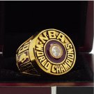 1982 Los Angeles lakers Basketball world championship ring 8-14S copper solid back ingraved inside