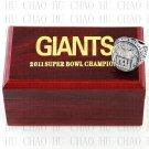 Team Logo wooden case 2011 New York Gaints Super Bowl Championship Ring 12 size solid back
