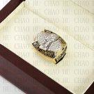Team Logo wooden case 2002 Tampa Bay Bucaneers Super Bowl Championship Ring 10-13 size
