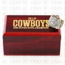Team Logo wooden case 1995 Dallas Cowboys Super Bowl Championship Ring 10-13 size solid back