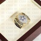 Team Logo wooden case 1992 Dallas Cowboys Super Bowl Championship Ring 10-13 size solid back