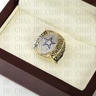 Team Logo wooden case 1992 Dallas Cowboys Super Bowl Championship Ring 10-13 size solid back