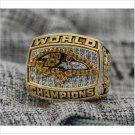 2000 Baltimore Ravens NFL Super Bowl FOOTBALL Championship Ring 7-15 Size Copper Engraved Inside