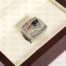 Team Logo wooden Case 2011 New England Patriots AFC Football world Championship Ring 10-13 size