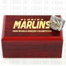Team Logo wooden Case 2003 FLORIDA MARLINS world Series Championship Ring 10-13 size solid back