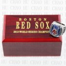 Team Logo wooden Case 2013 Boston Red Sox world Series Championship Ring 10-13 size solid back
