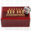 Team Logo wooden Case 2004 Boston Red Sox world Series Championship Ring 10-13 size solid back