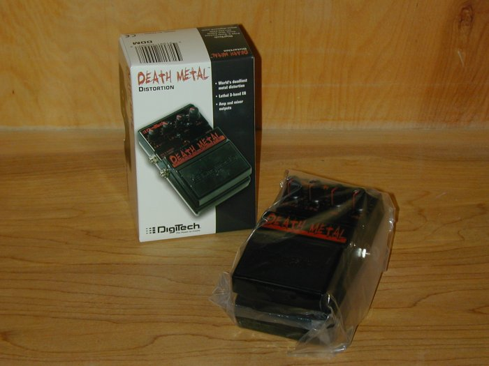 Digitech Death Metal Metal Distortion EFX Pedal   www.tmscad.ecrater.com