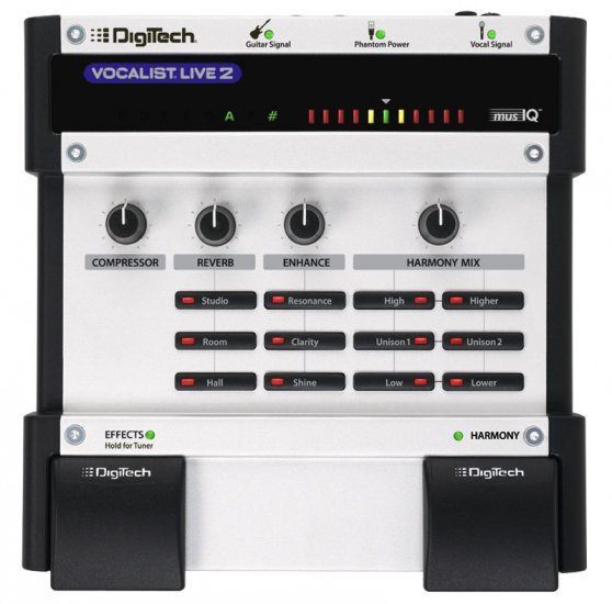 Digitech Vocalist Live2 Vocal/EFX Processor w/ Power Supply   www.tmscad.ecrater.com