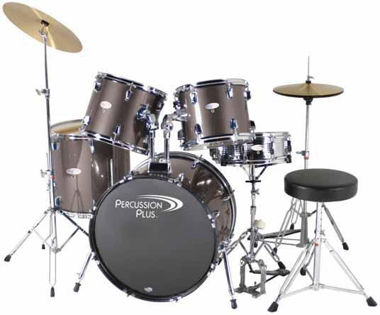 Percussion Plus PP3500 5-Piece Drum Kit Remo Drum Heads FREE SHIPPING www.tmscad.ecrater.com
