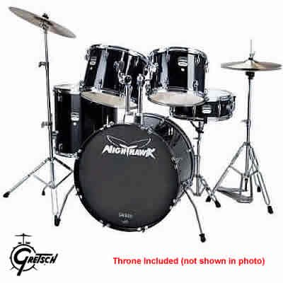 Gretsch Nighthawk Complete 5 Piece Drum Set  FREE SHIPPING  www.tmscad.ecrater.com