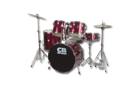 CB CB5 5 Piece Drum Set Remo Drum Heads FREE SHIPPING  www.tmscad.ecrater.com