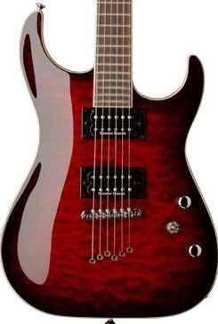 Washburn X50PRO Quilted Maple Trans Red w/ Case FREE SHIP String Thru Body www.tmscad.ecrater.com