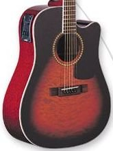 Washburn D10CEQSB Quilted Maple Sunburst Acoustic/Electric w/Case FREE SHIP  www.tmscad.ecrater.com