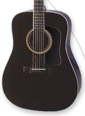 Washburn D10SB Black Acoustic w/Case FREE SHIP Mahogany Sides/Back www.tmscad.ecrater.com