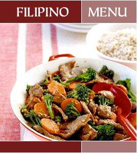 Filipino Menu