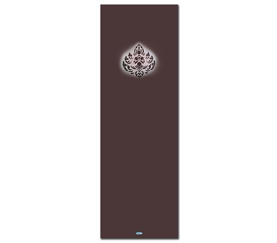 The Rise Printed Yoga Mat Thick 5 mm 24 x 72 Pilates Decor Rug Gift Brown and Exercise Meditation