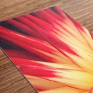 Fire Flower Printed Yoga Mat Thick 5 mm 24 x 72 Pilates Red Decor Rug Fitness Exercise Meditation