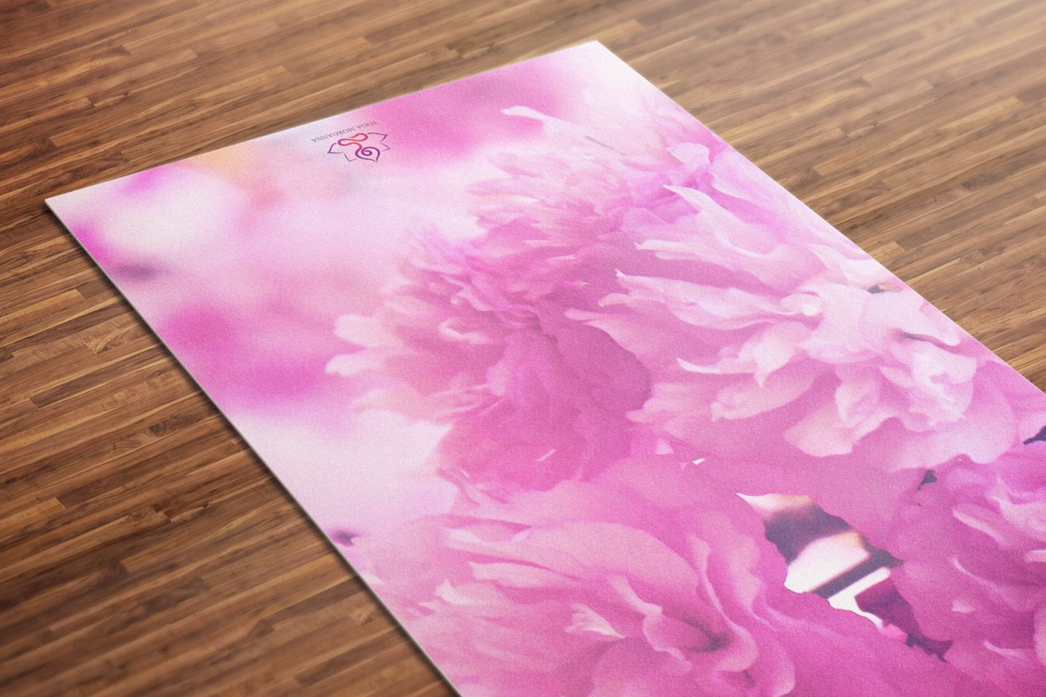 Pinkish Printed Yoga Mat Thick 5 mm 24 x 72 Pilates Pink Decor Rug Gift Fitness Exercise Meditation