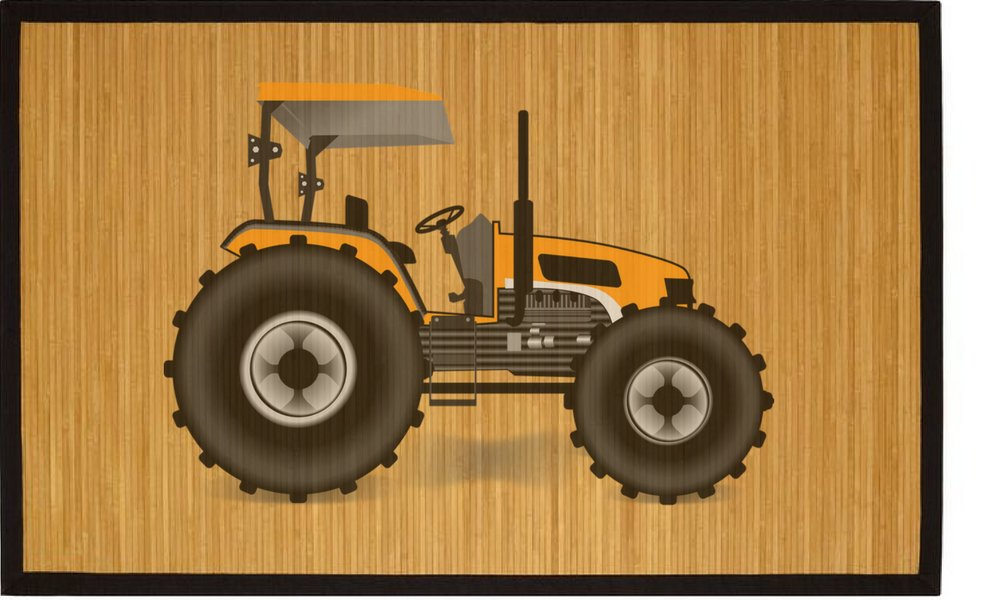 Kids bamboo natural mat healthy stand and play area tractor for room great gift ideas housewarming