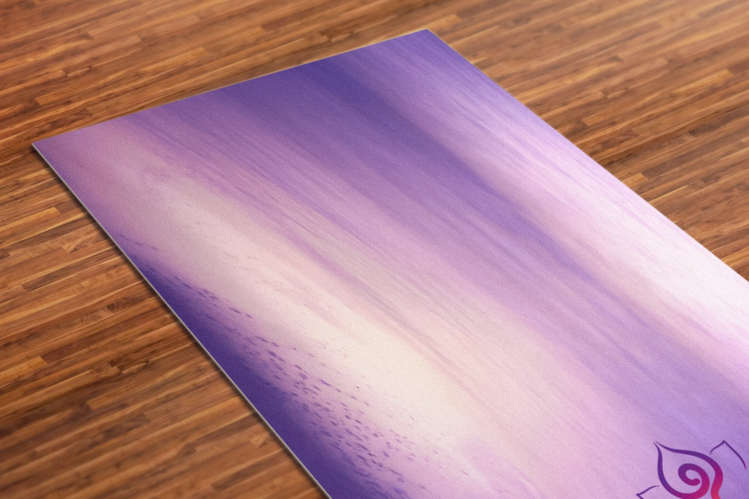 Purple Haze Printed Yoga Mat Thick 5 mm 24 x 72 Pilates Decor Rug Gift Fitness Exercise Meditation