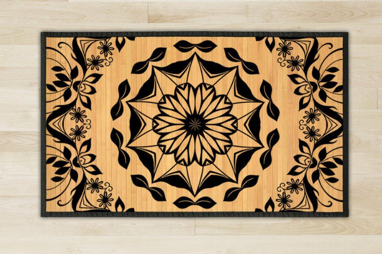 23.6X39.4 oriental  bamboo natural rug housewarming  brown mat room and great gift meditation floor