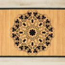 23.6X39.4 Mandala Yin bamboo natural rug housewarming  brown mat bedroom great gift idea meditation