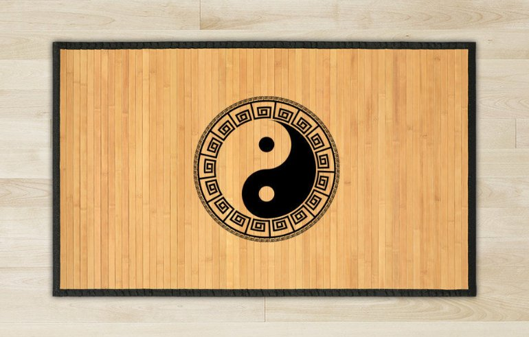 27.6X47.2 Yin Yen bamboo natural rug housewarming play   brown mat bedroom and great gift meditation