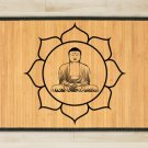 27.6X47.2 Buddha bamboo natural rug healthy standing  brown mat bedroom and great gift meditation