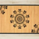 23.6X63 Tri bamboo natural rug housewarming play  brown mat room and great gift meditation decor