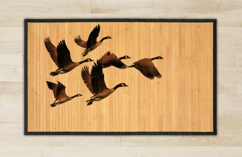 27.6X47.2 goose bamboo natural rug housewarming play  brown mat bedroom and great gift ideas