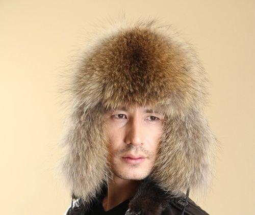 New Fashion Men's Fur Winter Warm Hat / Cap Flat Hat Protect ears