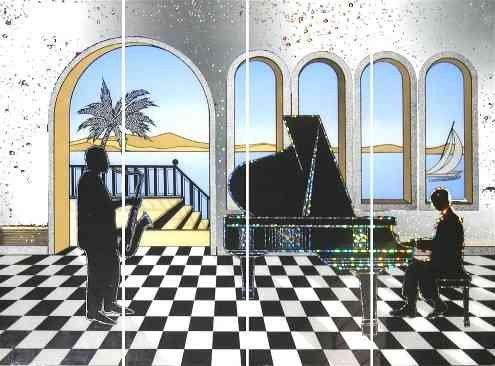 Mirror Dynamics Jazz Piano Mirrored Wall Art