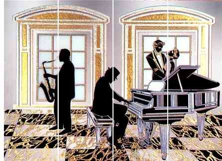 Mirror Dynamics Jazz Player Mirrored Wall Art