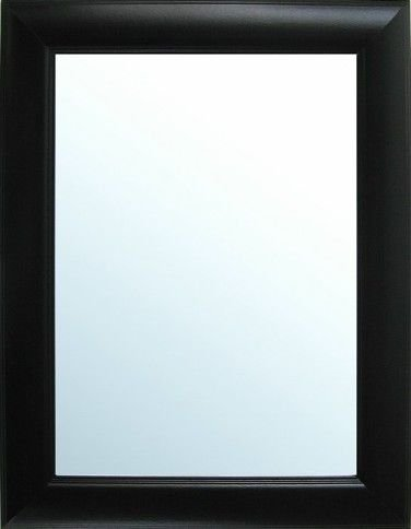 Mirror Dynamics Grooved Framed Black Wall Mirror