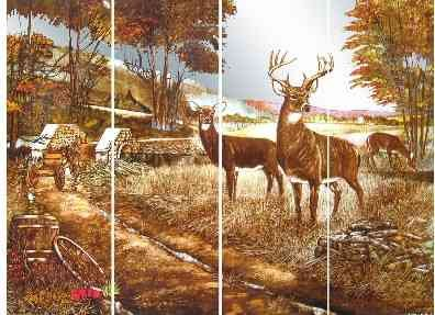 Mirror Dynamics Deer Family Mirrored Wall Art