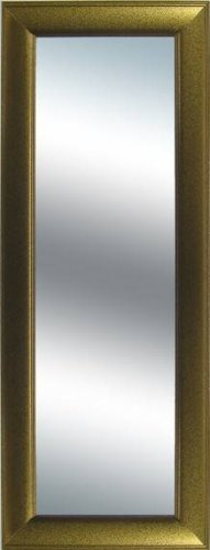 Grooved Frame Metallic Gold Extra Long Wall Mirror