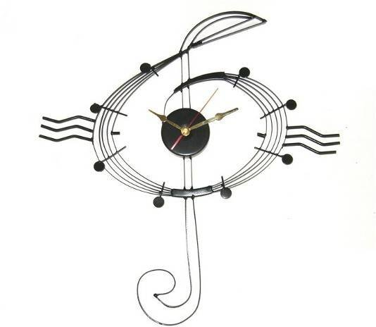 Treble Clef Wall Clock