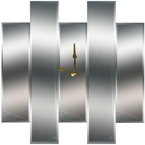 Mirror Dynamics Beveled Mirror Wall Clock