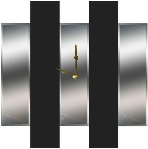 Mirror Dynamics Beveled and Black Mirror Wall Clock