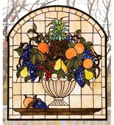 Meyda Tiffany Stained Glass Fruitbowl Window